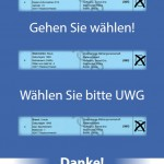 UWG Wahl- Kochbuch